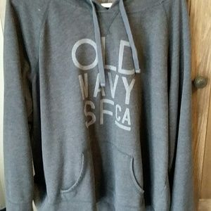 Gray Old Navy SF CA hoodie with front pocket. XXL
